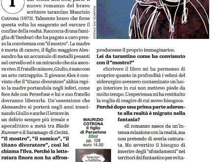 Brunella Schisa, sul Venerdì di Repubblica del 18 gennaio 2019